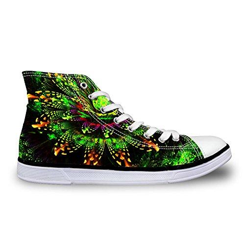 Per Te Disegni Scarpe Alte In Tela Floreale Per Donna Stringate Leggere Sneakers Da Donna Floreali 5