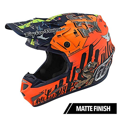 Troy Lee Designs SE4 Composite Baja Adult Off-Road Motocross Helmet (Medium, Matte Orange)