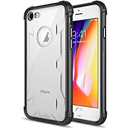iPhone 8 Case,iPhone 7 Case,Atouchbo [Shock Reduction] Reinforced Corner TPU Bumper + Hard PC Back Cover Military Grade Extreme Drop Tested Heavy Duty Protective Cover - Black