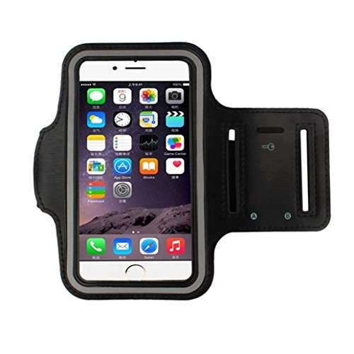 Gotd Universal Sports Armband with Key Holder for LG G5 for iPhone 6s 7, Protective Phone Case 45cmX15cm (Black)
