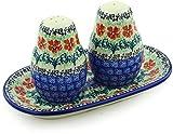 Polish Pottery Salt and Pepper Set Maraschino made by Ceramika Artystyczna