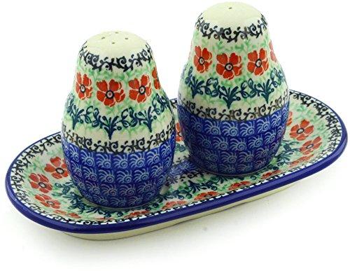 - Polish Pottery Salt and Pepper Set Maraschino made by Ceramika Artystyczna