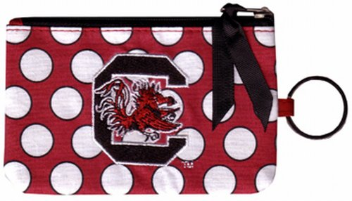(NCAA South Carolina Gamecocks Keychain Coin Purse Divided)