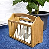Relaxdays Magazine Rack made of Robust Bamboo with