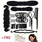 Noova Topsy Tail Hair Tools – Bun Maker Ponytail Holder Hair Accessories For Women Bobby Pins Elastics Hair Braid Magic Twist Hair Styling for Women & Girls Short and Long Hair Quality DIY Kit