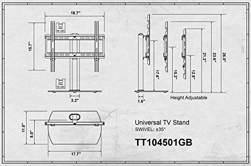 Fitueyes universal tv stand base swivel tabletop tv stand with consumer electronics ccuart Gallery