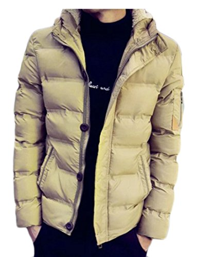 Quilted UK Down today Zipper Hooded Coat Khaki Thicken Mens Windbreaker Basic Jackets RYCdCwAq