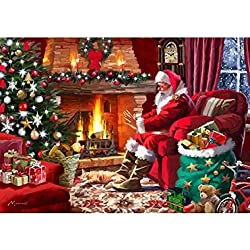 Wentworth Santa by the Fire 250 Piece Wooden Jigsaw Puzzle