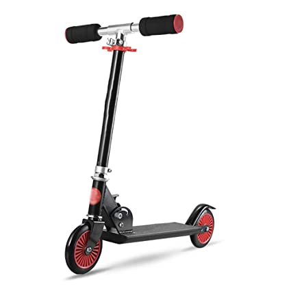 Patinete Scooter Plegable para niños Negro con PU Destello ...