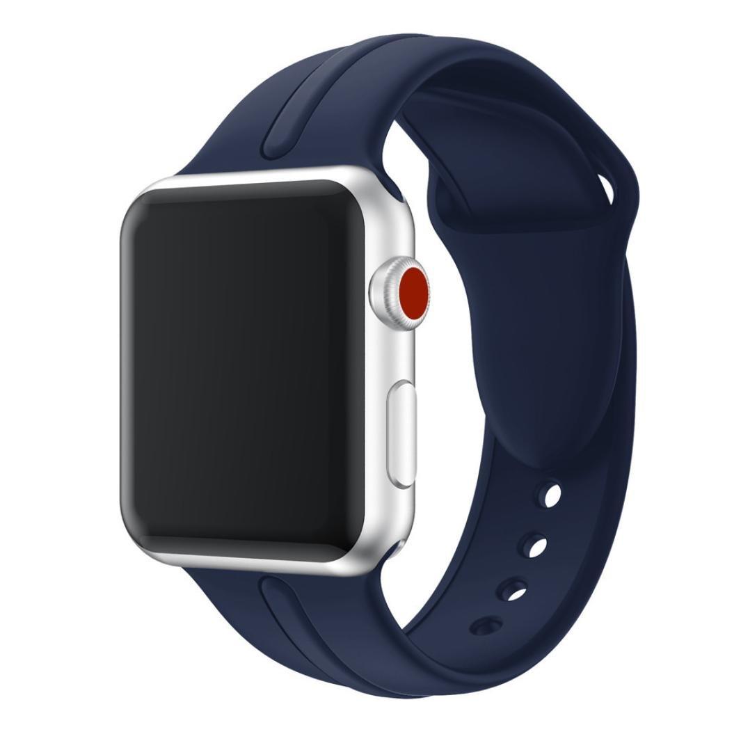 時計バンド、Showkingスポーツソフトシリコン交換スポーツバンドストラップfor Apple Watchシリーズ3 38 mm ネイビーブルー ネイビーブルー B078WMVDVP