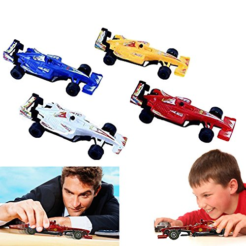 Dazzling Toys Sports Racing Car Pack of 4 Kids Boys Pull-back Toy Racer Car (Racing Driver Costume)