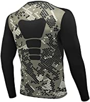 AMZSPORT Herren Kompressions-Shirt langrmlig Funktionsshirts BaseLaye