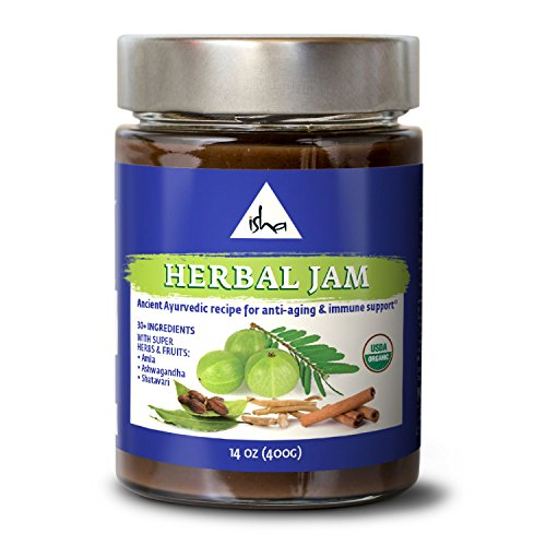 Isha Natural Fruit, Herb and Spice Jam with Anti-Aging and Antioxidant Properties, Ayurveda Recipe Boosts Immunity, Cleanses Body, and Increases Metabolism. USDA Organic Herbal Spread - 14 Ounce ()