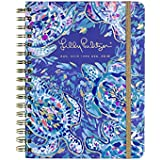Lilly Pulitzer 17 Month Large Hardcover Agenda, Personal Planner, 2018-2019 (Party Wave)