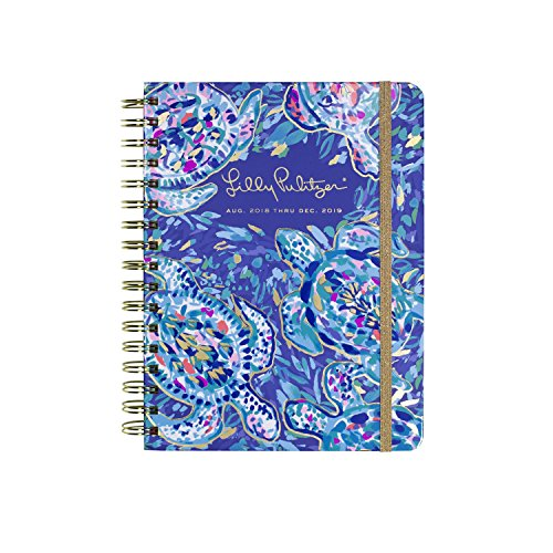 Lilly Pulitzer 17 Month Large Hardcover Agenda, Personal Planner, 2018-2019 (Party Wave) -