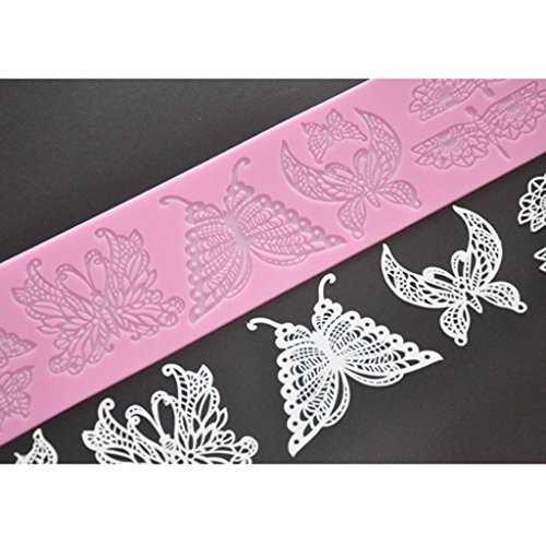 FOUR-C Silicone Embossing Mat Butterfly Lace Mold Color Pink