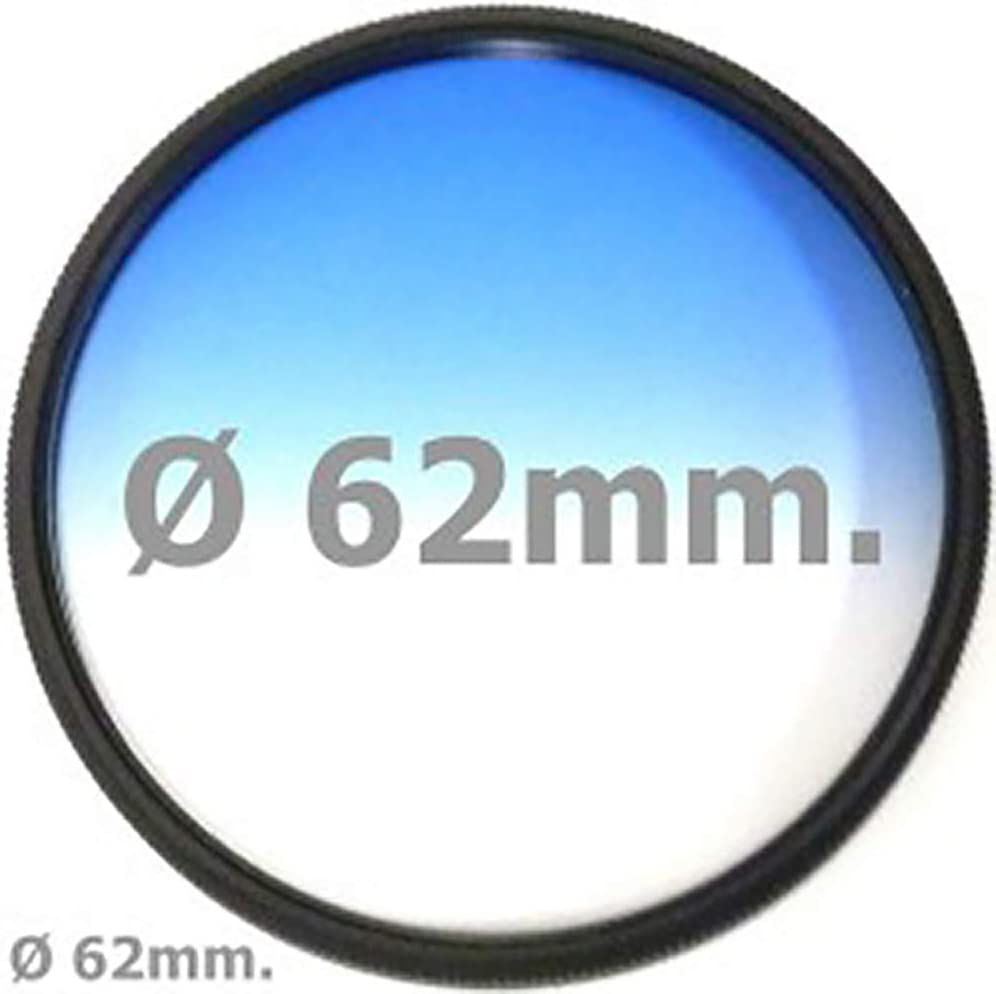 / Color Photography Gradual Blue Filter Lens of 62/ mm Cablematic/