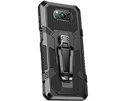 Grandcaser Capa para Poco X3 NFC ultrafina PC + TPU Capa traseira à prova de choque Capa protetora antiqueda para Xiaomi Poco