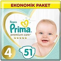 Prima Premium Care Bebek Bezi Maxi 51'li 4 Beden