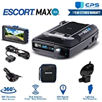 Escort Max 360 Radar Detector 0100024-2 + Smart Direct Wire Cord + CPS Extended Warranty & Minolta 1080p Full HD Dash Cam with Night Vision and Motion Detection - Advanced Bundle