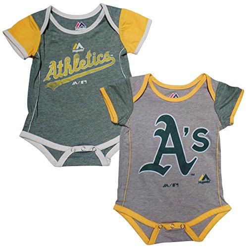- Oakland Athletics Baby/Infant 2 Piece Creeper Set 24 Months