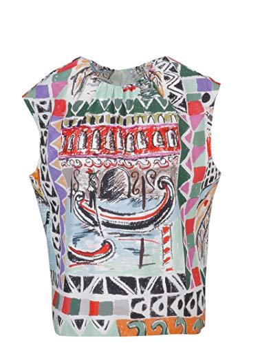 Prada Women's P932f1tzef0424 Multicolor Cotton Top ()