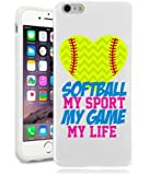 Softball iPhone 6 Case By NickyPrints(TM) - Softball My Game My Life Quote Teen Girls UNIQUE Designer Gloss Candy TPU Flexible Slim Case Cover Skin for iPhone 6