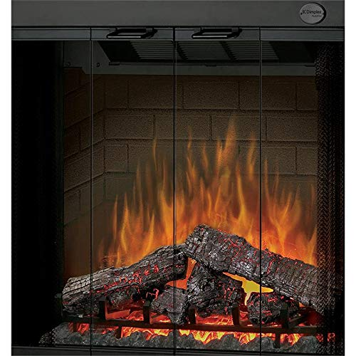 Dimplex BFSDOOR33BLK 33-Inch Glass Swing Doors for Built-In Electric Firebox ()