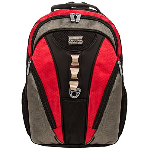 Black and Red Rivo Backpack Carrying Case for Apple MacBook Pro and Air 13.3 to 15.4 inch - Inch Wrap 15.4 Laptop
