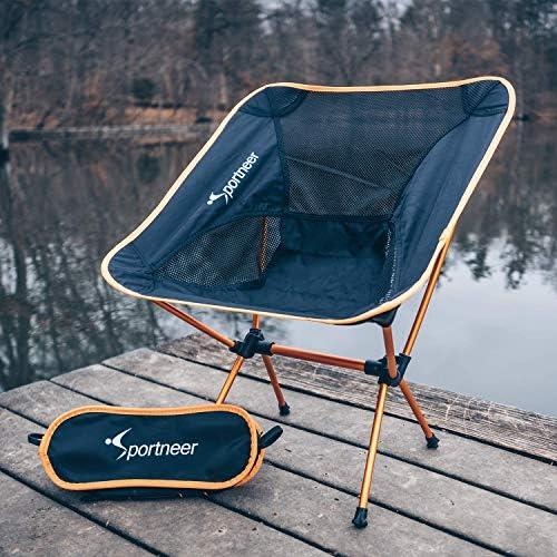 Sportneer Camping Chair Ultra Light Garden Chair Portable Folding Chair with Ca