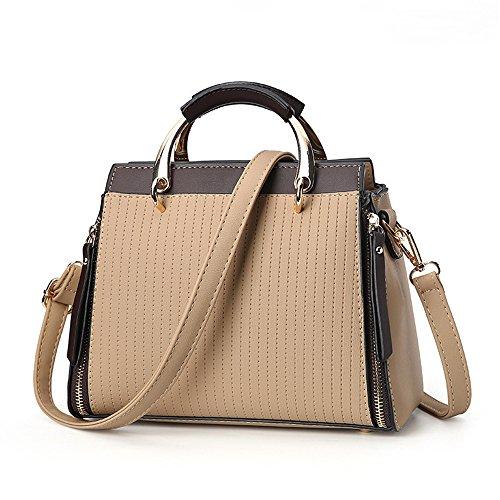 GWQGZ Nueva Moda Solo Hombro Inclinado Span Simple Atmósfera Handbag Amarillo Yellow