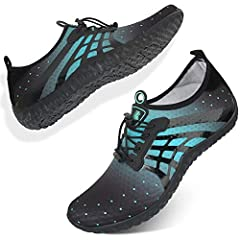 Barerun Womens Mens Water Shoes Quick Dry Barefoot for Swim Diving Surf Aqua Sports Boat Beach Walking YogaCompositionItem Type: Water ShoesUpper Material: Stretch Spandex Fabri Upper Out-sole Material: RubberToe Shape: Round ToeShoes Height:...