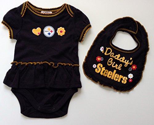 Pittsburgh Steelers Infant Ruffled Bodysuit