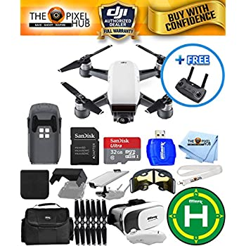 DJI Spark Quadcopter EXTREME ALL YOU NEED PROFESSIONAL BUNDLE With Landing Pad, Extra Props, 32GB Micro SD Card Plus Much More