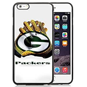 Easy Set,Customized Iphone 6 Plus Case Design with Green Bay Packers 2 Iphone 6 Plus TPU 5.5 Inch Black Cell Phone Case