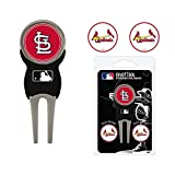 MLB St Louis Cardinals Divot Tool Pack With 3 Golf Ball Markers