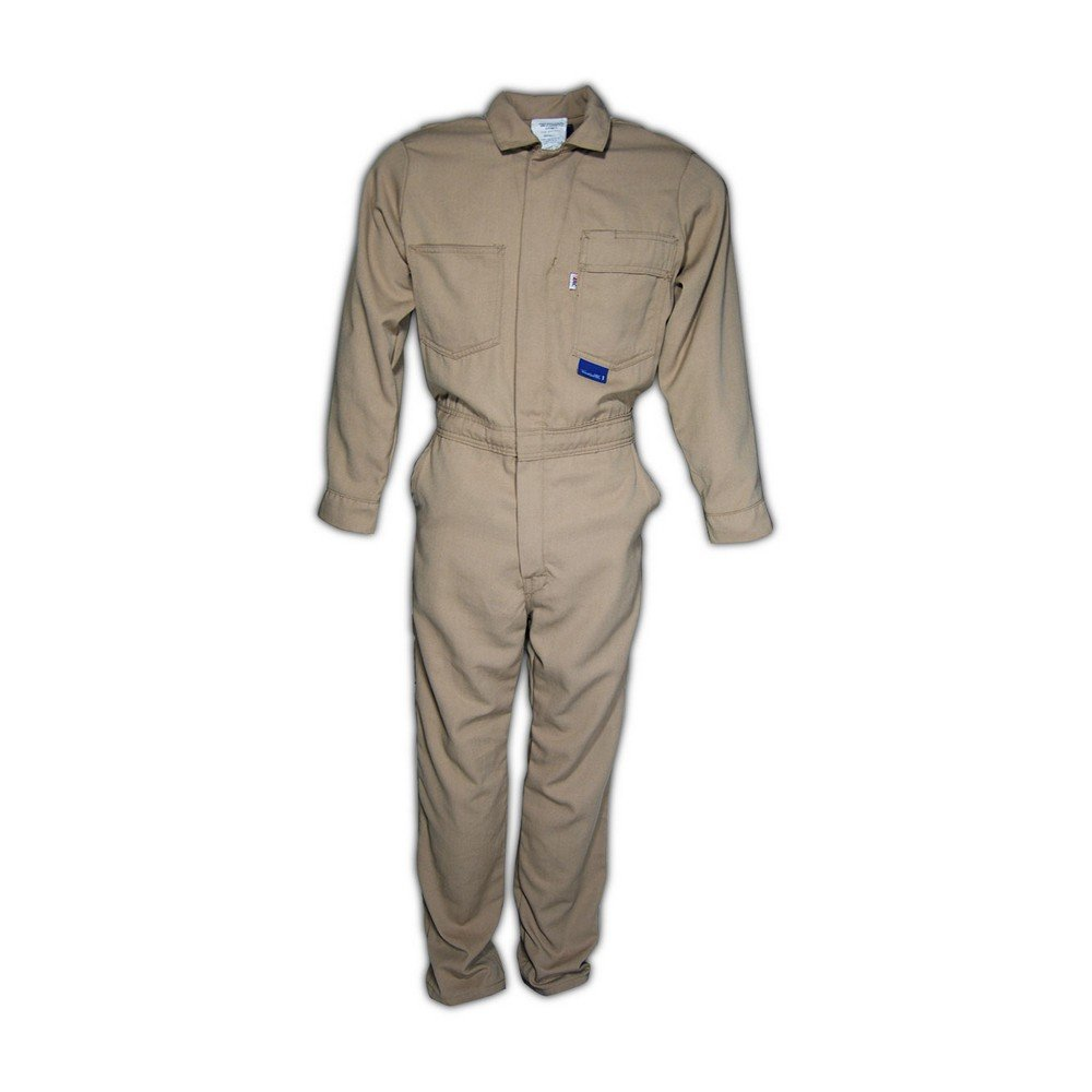 Magid Glove & Safety 3540-TP7-KH-L A.R.C. NFPA 2112 Arc-Rated Contractor Coveralls, Large, Khaki