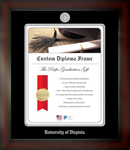 Celebration Frames University of Virginia 22 x 17 Mahogany Finish Infinity Diploma Frame