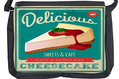 Borsa Tracolla Retro Torta di formaggio Stampato