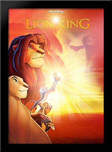 lion king black wood framed