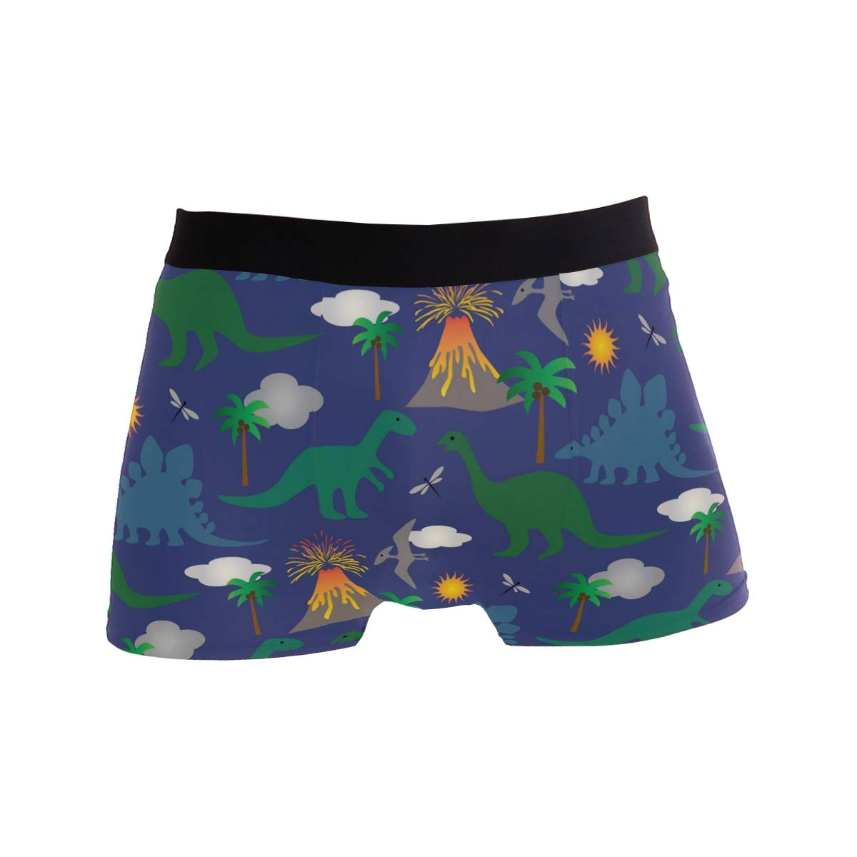 Dinosaur Pattern Boxer Briefs for Men Mens Comfortable Underwear Trunk