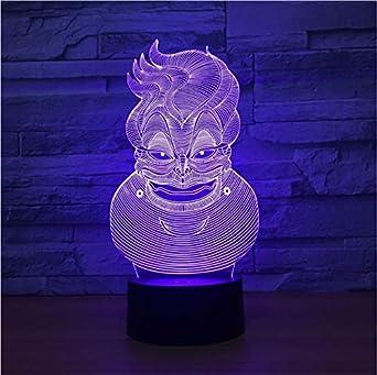 Lámpara 3D Payaso 7 Color Led Lámparas de Noche Para Niños ...