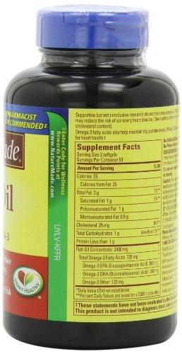 031604013288 - Nature Made Fish Oil Omega-3, 1200mg, 100 Softgels carousel main 3