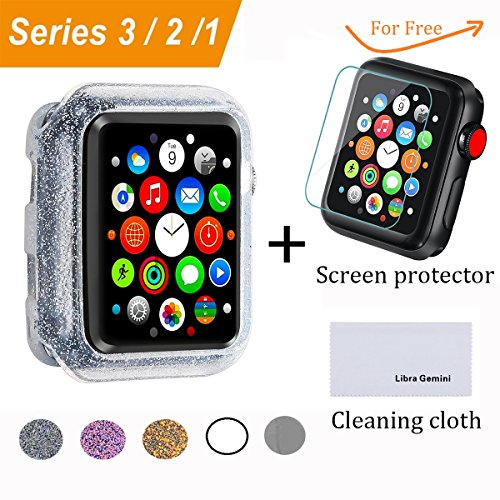 Libra Gemini Replacement Silicone Bling Apple Watch Case 42mm for Apple Watch 42mm Series3/2/1