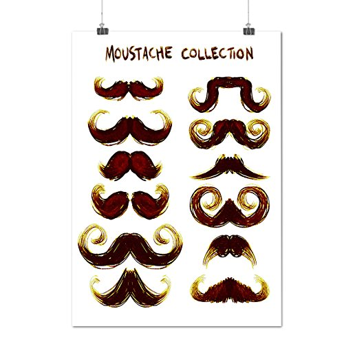 Moustache Stylish Fashion Hair Style Matte/Glossy Poster A3 (42cm x 30cm) | Wellcoda (70s Hairstyles And Makeup)
