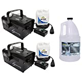 (2) CHAUVET Hurricane H700 Fog/Smoke Machines H-700 + HDF High Density Fog Fluid
