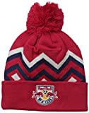 MLS New York Red Bulls Men's Cuffed Knit with Pom, One Size, Red