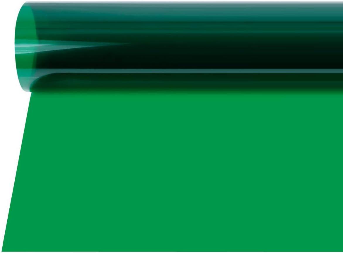 Selens 40x50cm Gel de Color Filtro Luz Geles de Corrección Láminas Plástica de Película de Color Transparente para Foco de 800W Cabezal Rojo Fotografía Estudio Fotográfico Verde