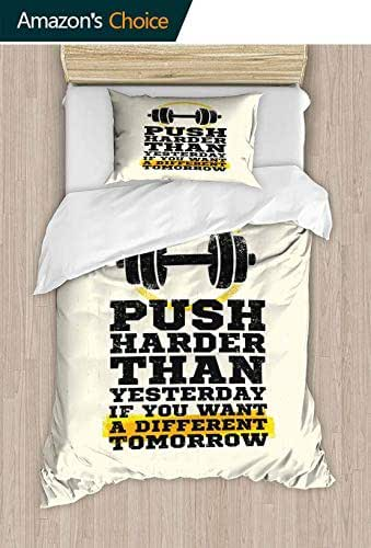 PRUNUSHOME Breathable Bedding If You Want A Different Tomorrow. Workout and Fitness Gym Motivation Quote. Home Collection Twin