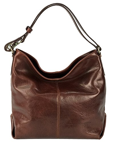 Cuoieria Fiorentina Italian Leather Hobo Handbag (Brown) by Cuoieria Fiorentina